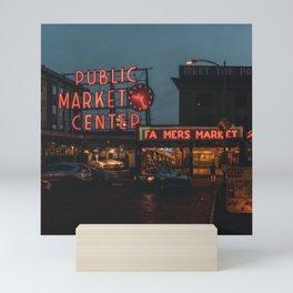 Seattle Public Market Mini Art Print