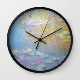 Monet water lilies 1908 Wall Clock
