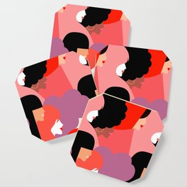 Together Girl Power - Pattern #girlpower Coaster