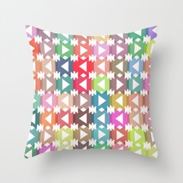 Pastel geometry Throw Pillow