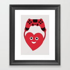Gaming Heart Framed Art Print
