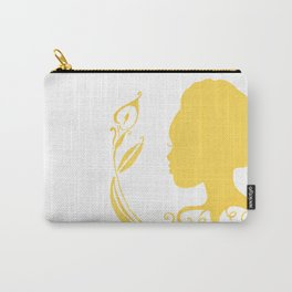 Gold Silhouette & Calla Carry-All Pouch