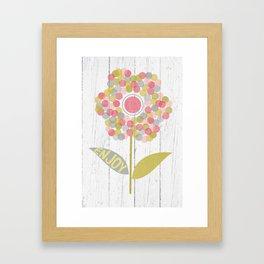 Dot Flower Framed Art Print