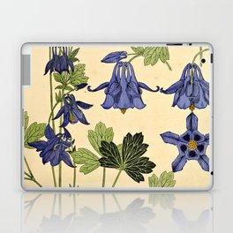 Maurice Verneuil - Ancolie - botanical poster Laptop & iPad Skin