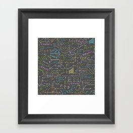 Math Lessons Framed Art Print