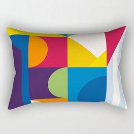 Abstract modern geometric background. Composition 15 Rectangular Pillow