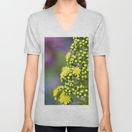 Mellow Yellow Floral by Reay of Light Photography Unisex V-Neck