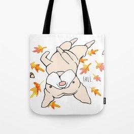 Fall Frenchie Tote Bag