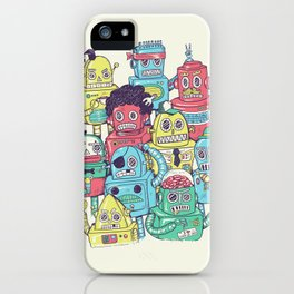 Robot's can't Smile iPhone Case