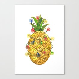 The Christmas Pineapple Canvas Print