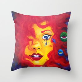 La Madre Sol Throw Pillow