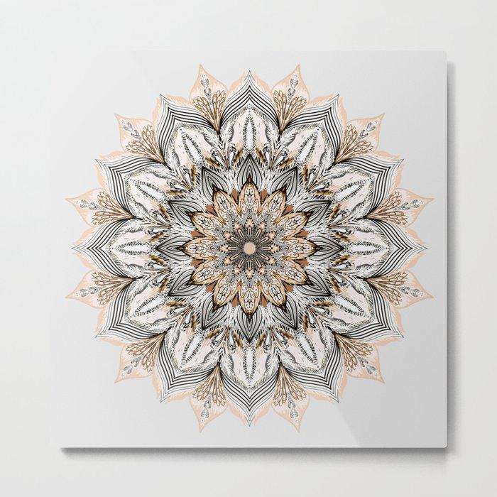 Sunset Mandala Metal Print