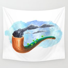ceci n'est pas une pipe Wall Tapestry