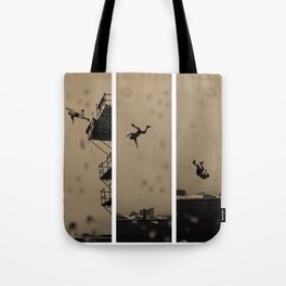 Man Falls Tote Bag