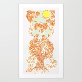 Fauns Annual Harvest Party! Art Print