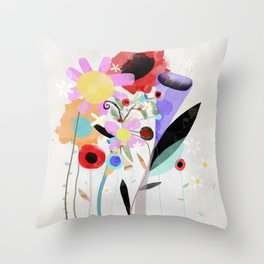 Wedding Shower Curtain - Ruth Fitta-Schulz - Your eyes are shining today Throw Pillow