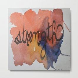 strength watercolor print Metal Print