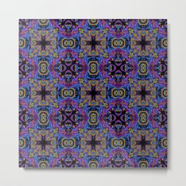 Bright douvet cover with crosses Roman style Metal Print