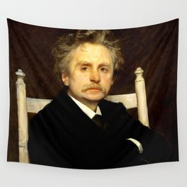 Edvard Grieg (1843 – 1907) portrait by Eilif Peterssen in 1891 Wall Tapestry