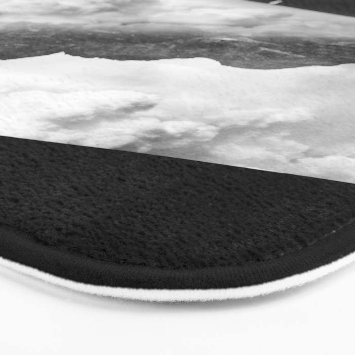 State of black and white isolation Bath Mat