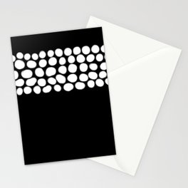 Soft White Pearls on Black Stationery Cards