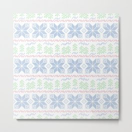 Christmas pattern. Cross-stitch Metal Print