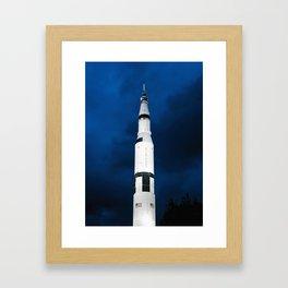 Saturn V Rocket Framed Art Print