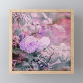 Romantic Rose Soft Pastel Colors Framed Mini Art Print