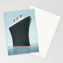 Vintage Travel Poster - Cruise Ship Stationery Cards