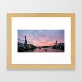 London Skyline Sunset Framed Art Print