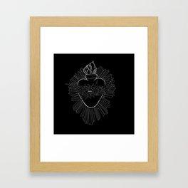 The devotion to the sacred heart. Framed Art Print
