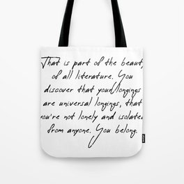 part of the beauty Tote Bag