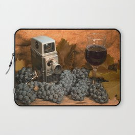 Bell and Howell with Black Grapes Laptop Sleeve