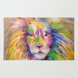 Colorful lion Rug