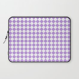 Small Diamonds - White and Light Violet Laptop Sleeve