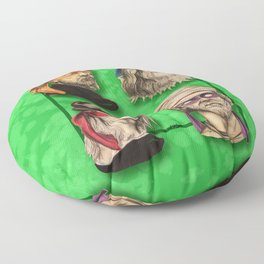 Renaissance Mutant Ninja Artists Floor Pillow