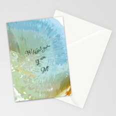 Without you, I am me Stationery Cards
