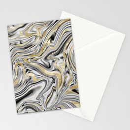 Gray Black White Gold Marble #1 #decor #art #society6 Stationery Cards