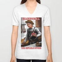 hannibal V-neck T-shirts featuring HANNIBAL by Gart Graphisme