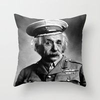 general Throw Pillows featuring General Knowledge by GingerRogers