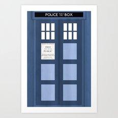 Doctor Who, Tardis Art Print