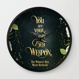 You are your own best weapon. The Winner's Kiss Wall Clock