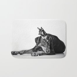 Best Buds - Dalmatian and Chihuahua Dogs Bath Mat
