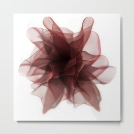 Red bow flower Metal Print