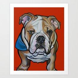 Johnny the English Bulldog Art Print