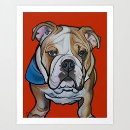 Johnny the English Bulldog Art Print