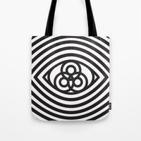 third eye Tote Bags featuring Third Eye by cmyka