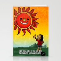 maori Stationery Cards featuring Maori & Sun by Noah's ART