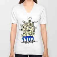 mouth V-neck T-shirts featuring mouth -mouth by watsonpablov