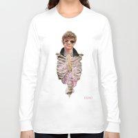 peonies Long Sleeve T-shirts featuring Peonies by taetaejojo